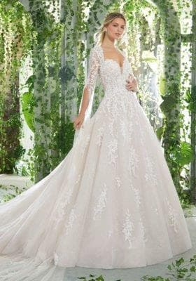 Amazing embroidered wedding gown
